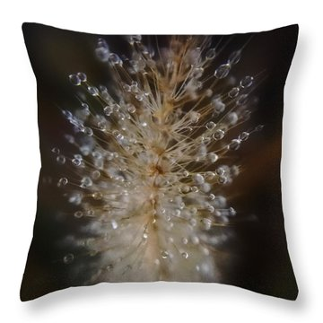 Spiked Droplets  Throw Pillow
