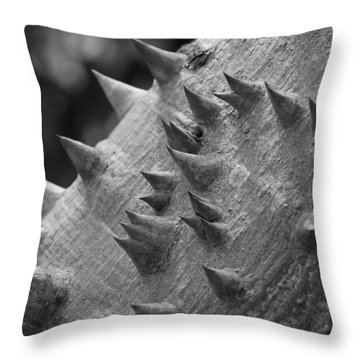 Spikey Thorny Tree Throw Pillow by Rob Hans