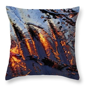 Spiking Throw Pillow by Sami Tiainen