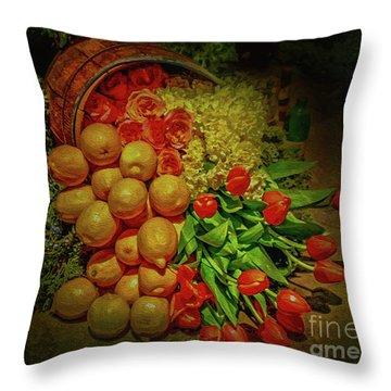 Spilled Barrel Bouquet Throw Pillow