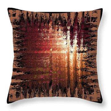 Spilled Colors Throw Pillow