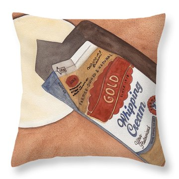Spilt Milk Throw Pillow by Ken Powers