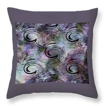 Spin And Platter Throw Pillow