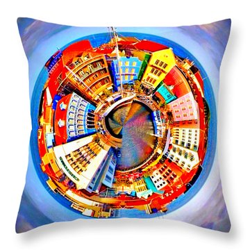 Spin City Throw Pillow