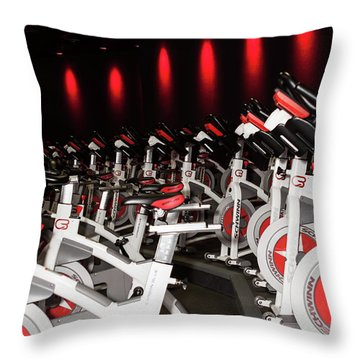 Spin Throw Pillow by Lawrence Burry