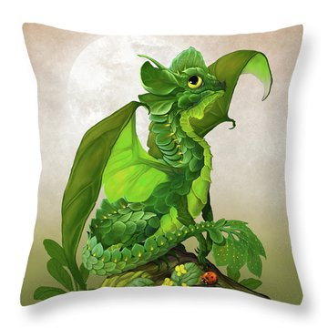 Throw Pillow featuring the digital art Spinach Dragon by Stanley Morrison