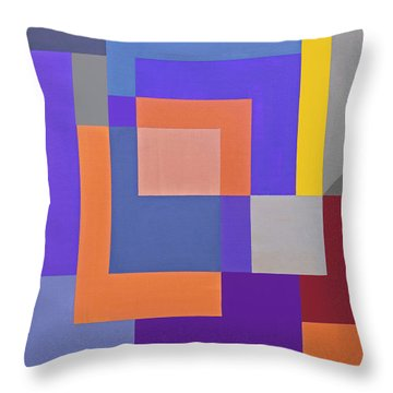 Spring 3 Abstract Composition Throw Pillow