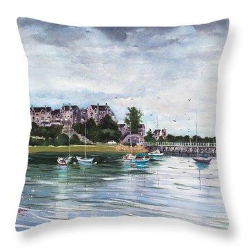 Spinnaker Island Throw Pillow by Laura Lee Zanghetti