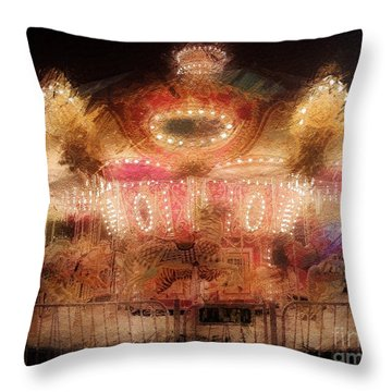 Spinning At The Speed Of Light Throw Pillow