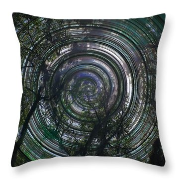Spinning Throw Pillow by David and Lynn Keller