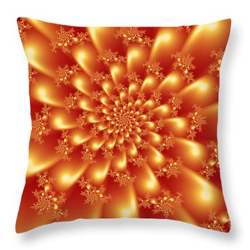 Spinning Gold Throw Pillow
