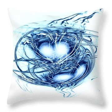 Spinning Into Place Throw Pillow by Linda Sannuti