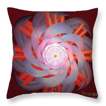 Spinning Pinwheel Throw Pillow by Deborah Benoit