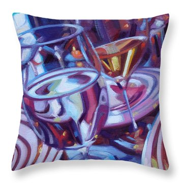 Spinning Plates Throw Pillow by Penelope Moore