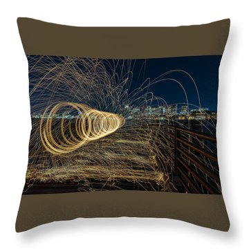 Spinning Sparks Throw Pillow