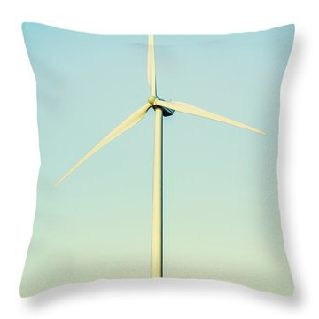 Spinning Sustainability Throw Pillow
