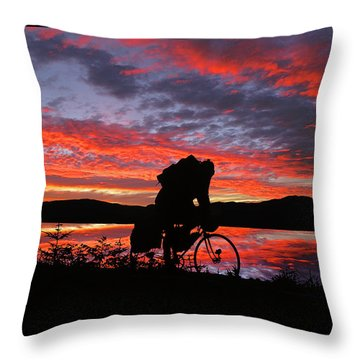 Spinning The Wheels Of Fortune Throw Pillow