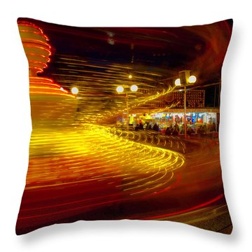 Spinning Until You're Dizzy Throw Pillow