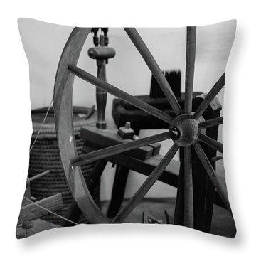 Spinning Wheel At Mount Vernon Throw Pillow