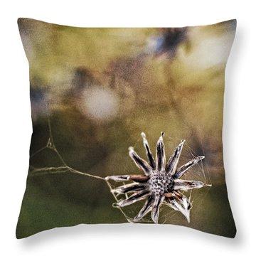 Spinnumwobner Bluetenstand Throw Pillow