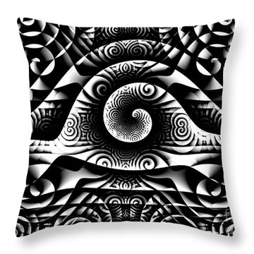 Spiral Abstract 1 Throw Pillow