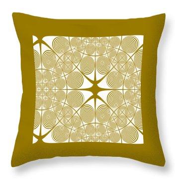 Spiral Abstract 7 Colour Choice Throw Pillow