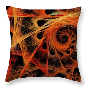 Throw Pillow featuring the digital art Spiral Abstract by Andee Design