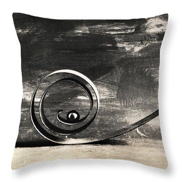 Spiral And Ball Throw Pillow by Andrey  Godyaykin