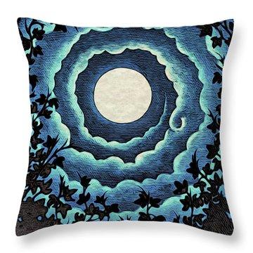 Spiral Clouds Throw Pillow