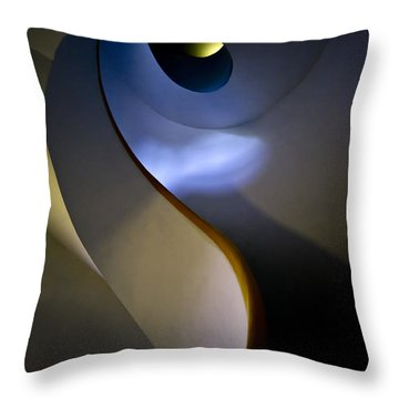 Spiral Concrete Modern Staircase Throw Pillow