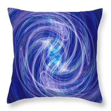 Spiral Dance Throw Pillow