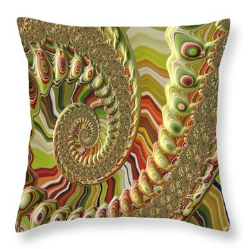 Throw Pillow featuring the photograph Spiral Fractal by Bonnie Bruno