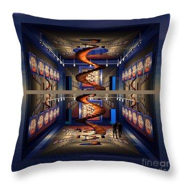 Spiral Gallery Throw Pillow