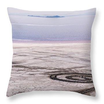 Spiral Jetty - Great Salt Lake - Utah Throw Pillow