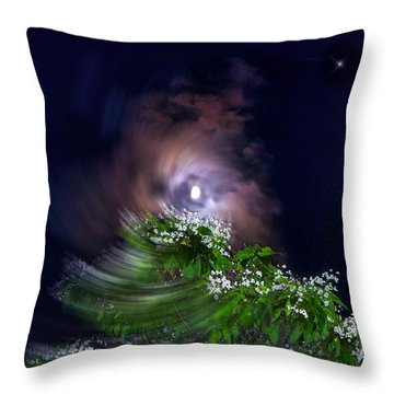 Spiral Lilac Moon Throw Pillow