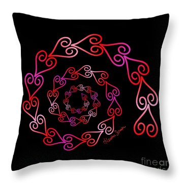Spiral Of Hearts Throw Pillow