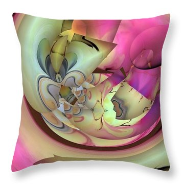 Throw Pillow featuring the digital art Spiral Of Life By Nico Bielow by Nico Bielow