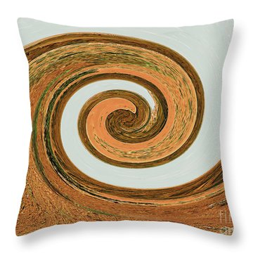 Throw Pillow featuring the digital art Spiral Of Red Rock, Sand, And Sandstone  by Merton Allen