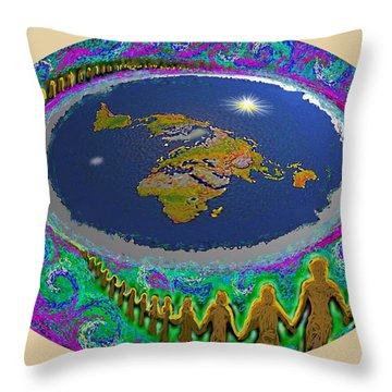 Spiral Of Souls Flat Earth Throw Pillow