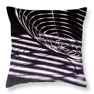 Spiral Shadows Throw Pillow