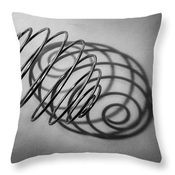 Spiral Shape And Form Throw Pillow