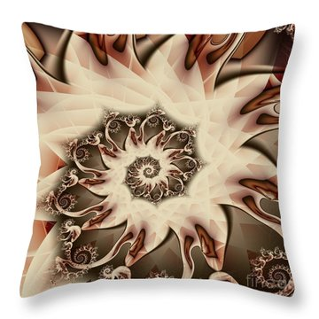 Spiral S'mores Throw Pillow by Michelle H