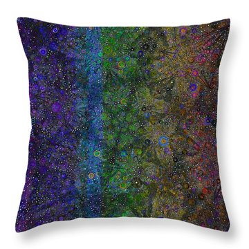 Spiral Spectrum Throw Pillow