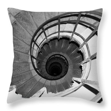 Throw Pillow featuring the photograph Spiral Staircase At The Arc by Donna Corless