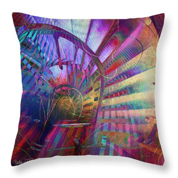 Spiral Staircase Throw Pillow