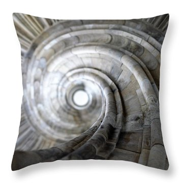 Spiral Staircase Throw Pillow by Falko Follert