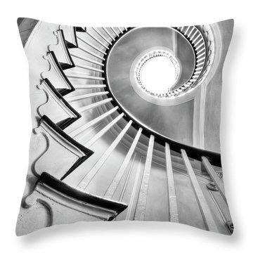 Spiral Staircase Photographs Throw Pillows