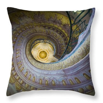 Spiral Staircase Melk Abbey I Throw Pillow