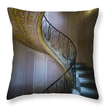 Spiral Staircase Melk Abbey II Throw Pillow