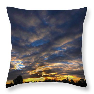 Throw Pillow featuring the photograph Spiral Sunset by Mark Blauhoefer